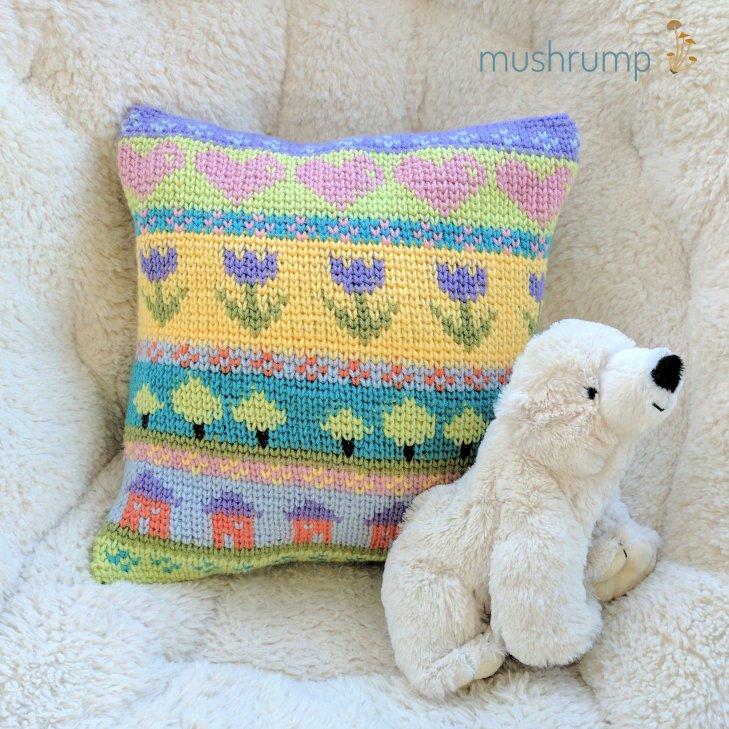 cheery pillow w logo